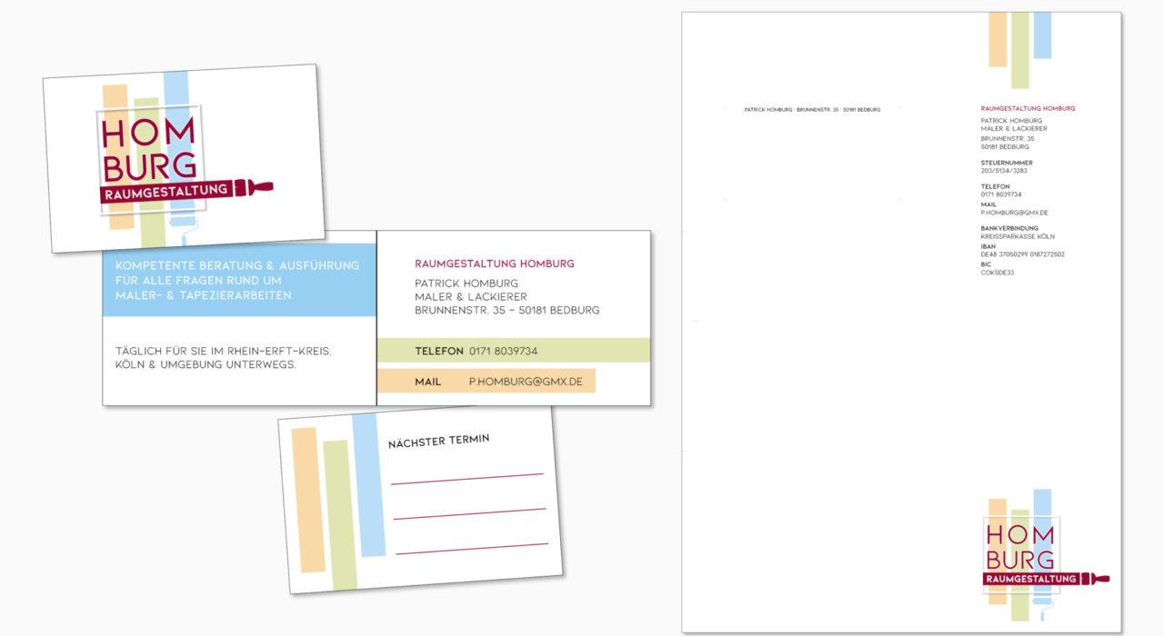 Geschäftsausstattung | Kunde: Homburg Raumgestaltung