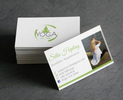 Visitenkarten Design Yoga mit Silke