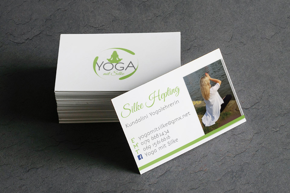 Visitenkarten Design | Yoga mit Silke